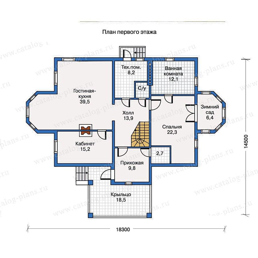 План 1-этажа проекта 30-54