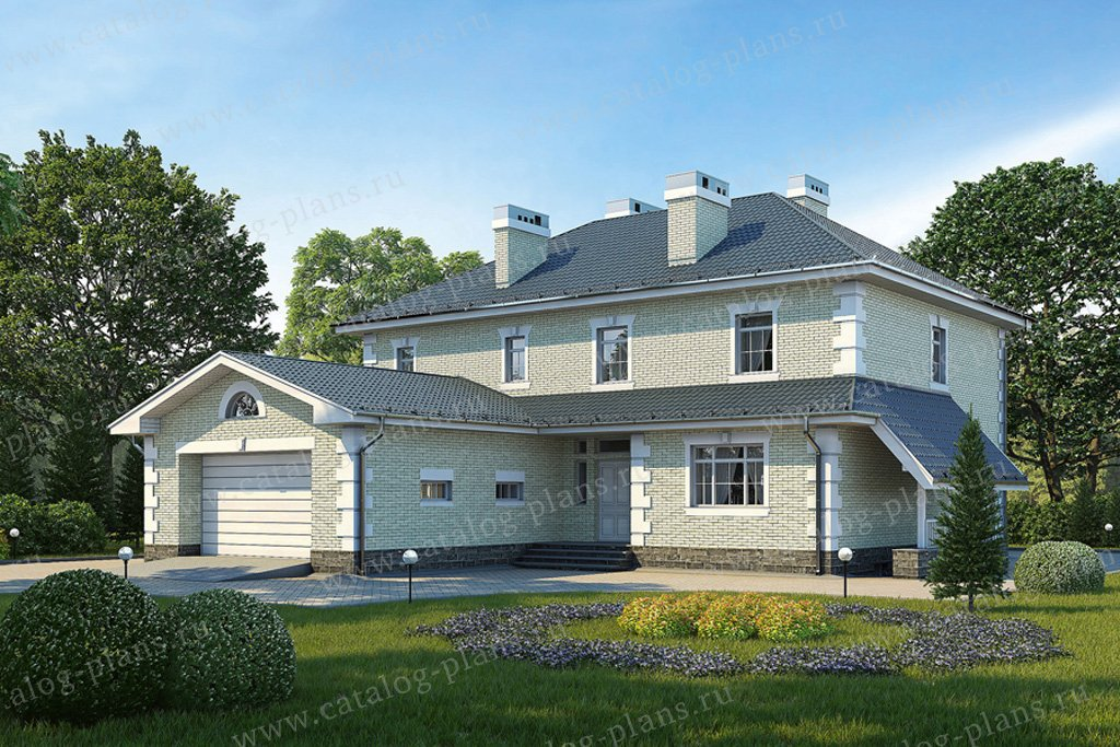 Проект жилой дом #31-39 материал - кирпич, стиль американский