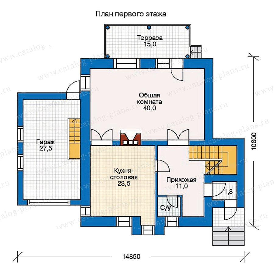 План 2-этажа проекта 30-42
