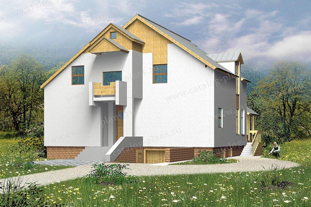 Проект жилой дом #30-45 материал - кирпич, стиль хай-тек