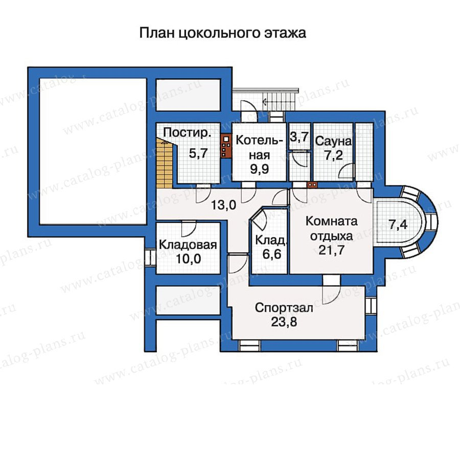 План 1-этажа проекта 30-52