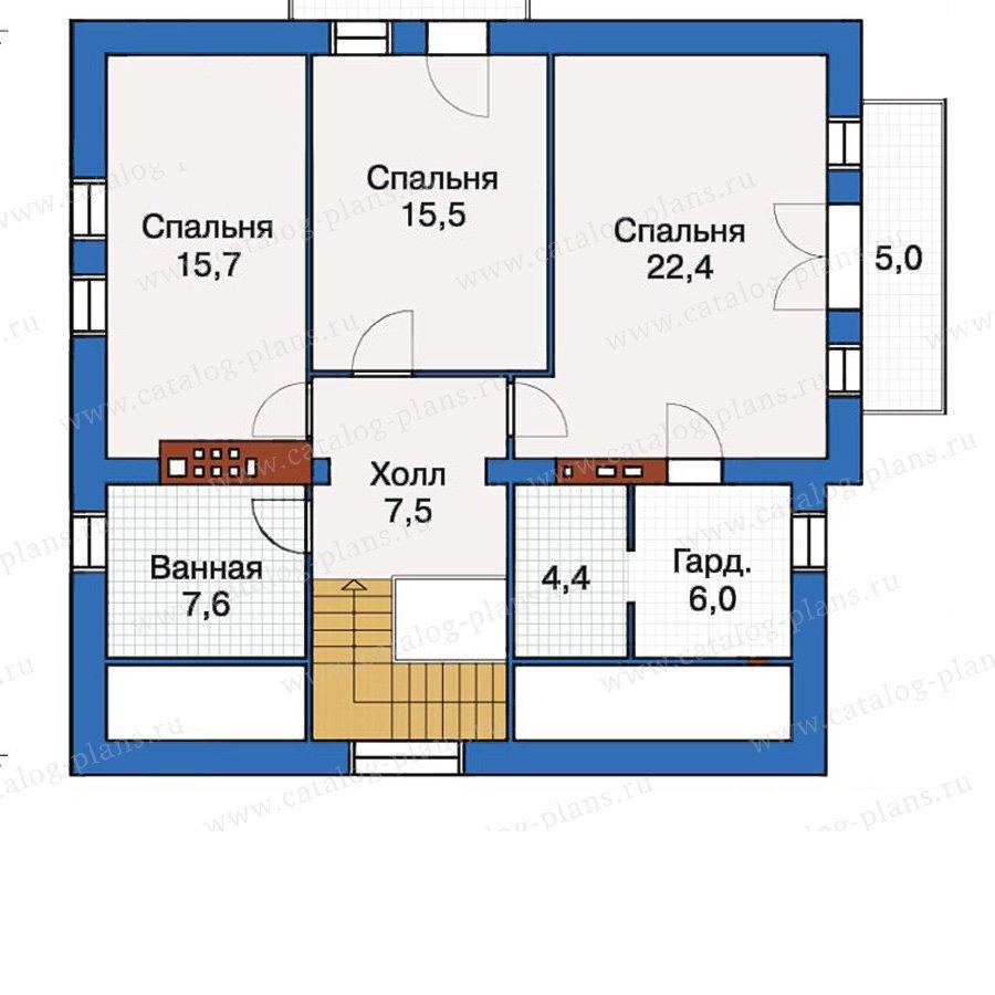 План 3-этажа проекта 30-55