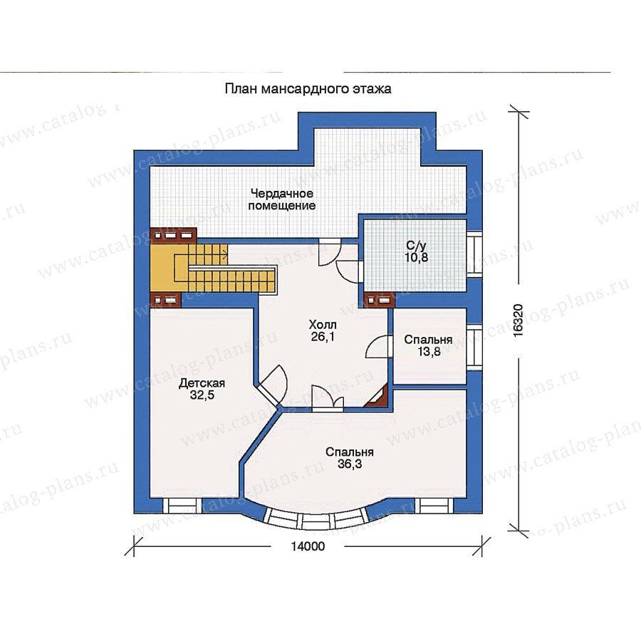 План 2-этажа проекта 31-84