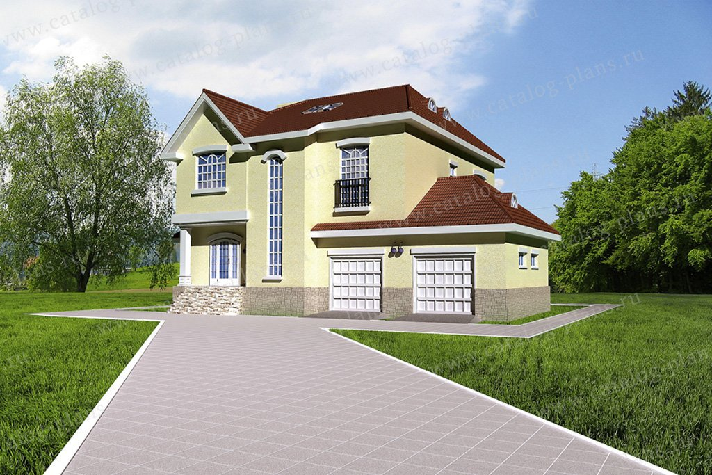 Проект жилой дом #31-75 материал - кирпич, стиль европейский