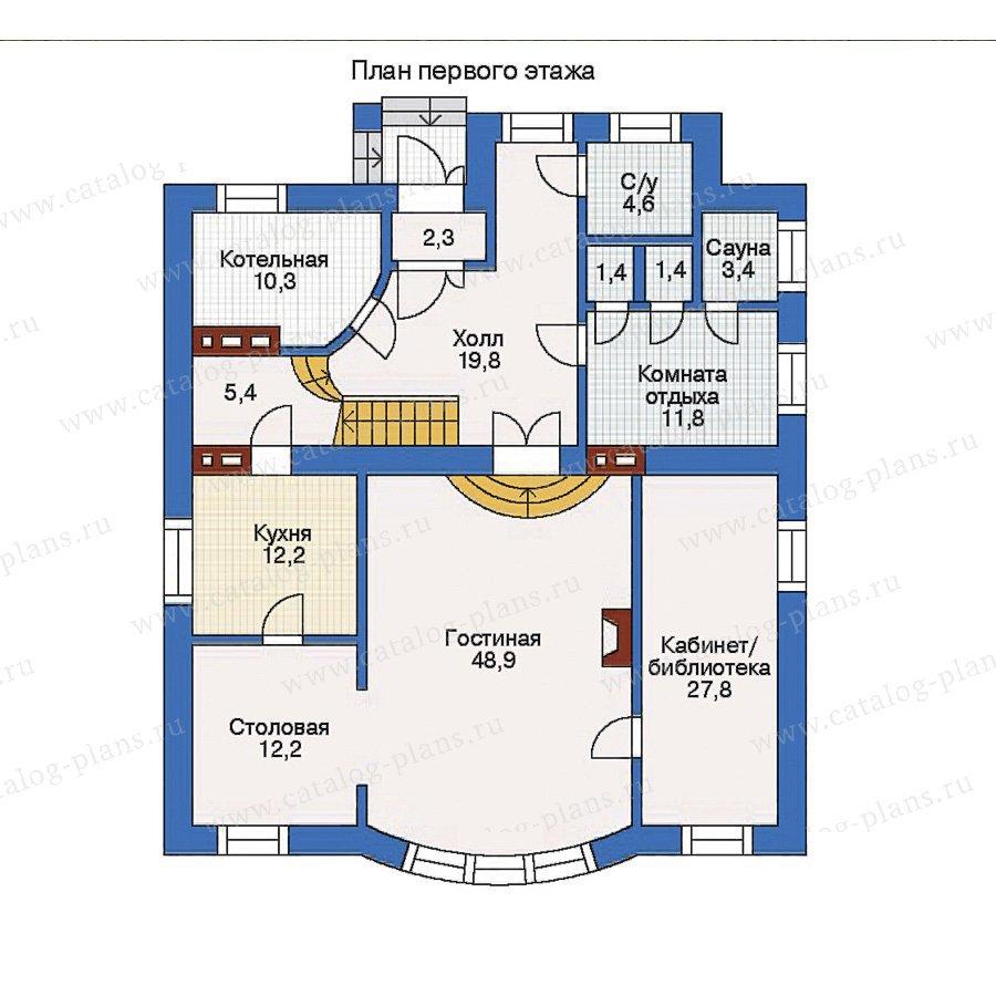 План 1-этажа проекта 31-84