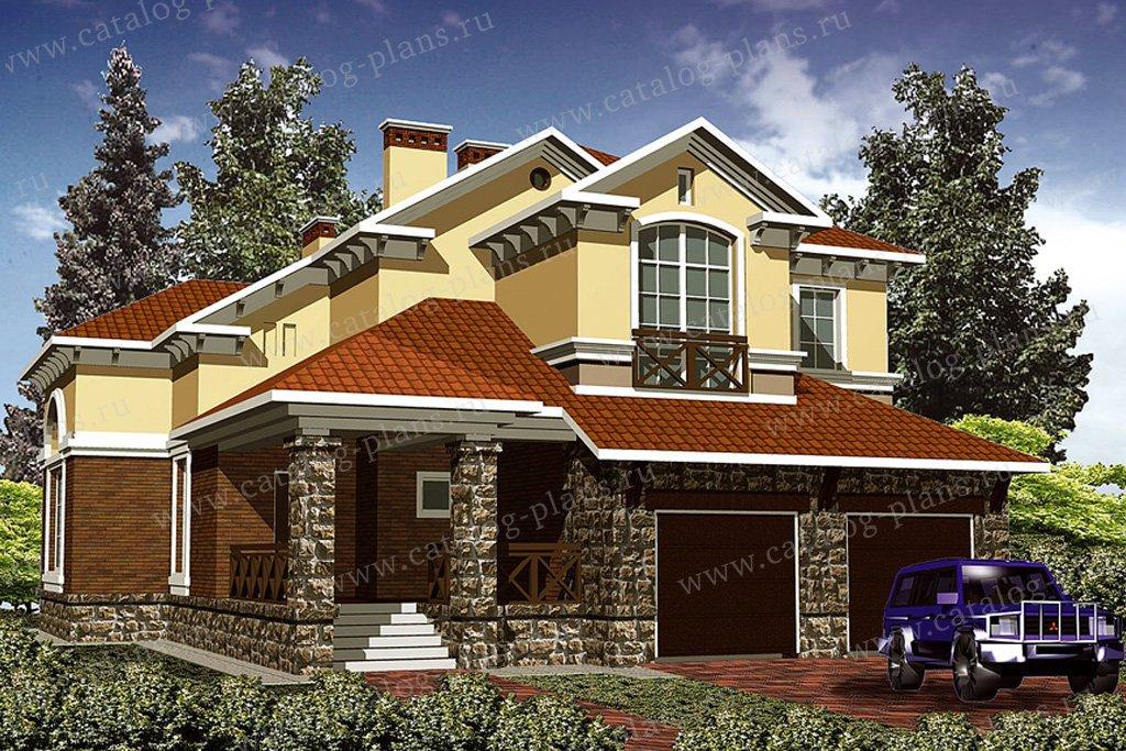 Проект жилой дом #30-64 материал - кирпич, стиль классический
