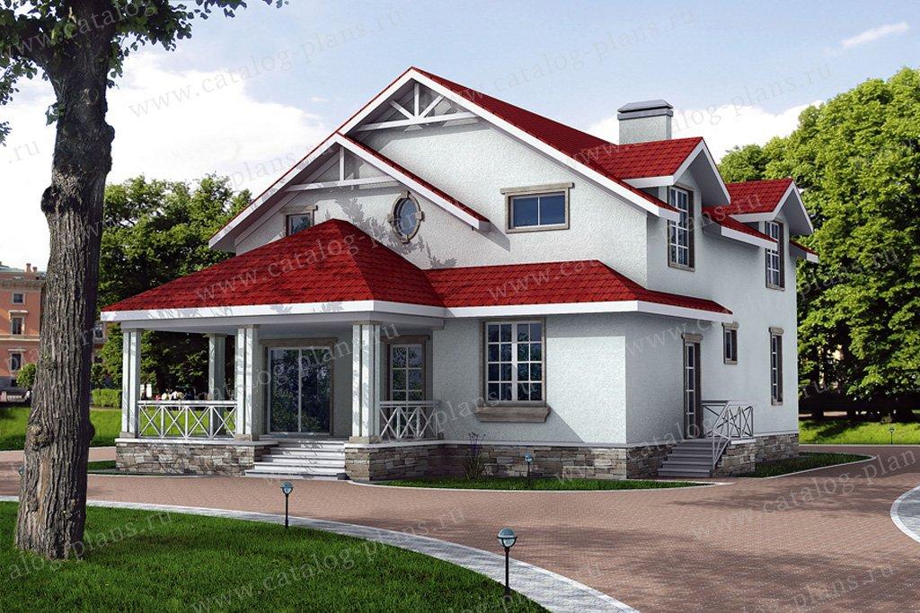 Проект жилой дом #31-06 материал - кирпич, стиль скандинавский