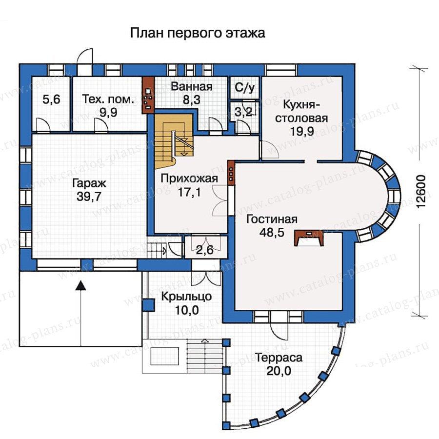 План 2-этажа проекта 30-53