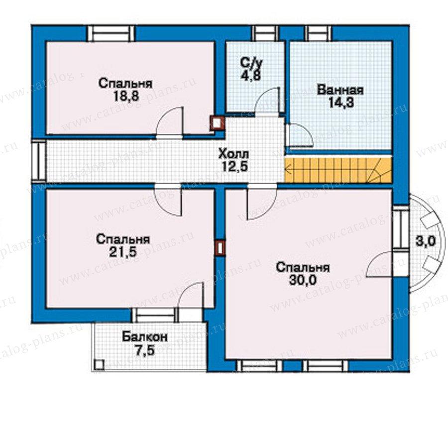 План 3-этажа проекта 30-47
