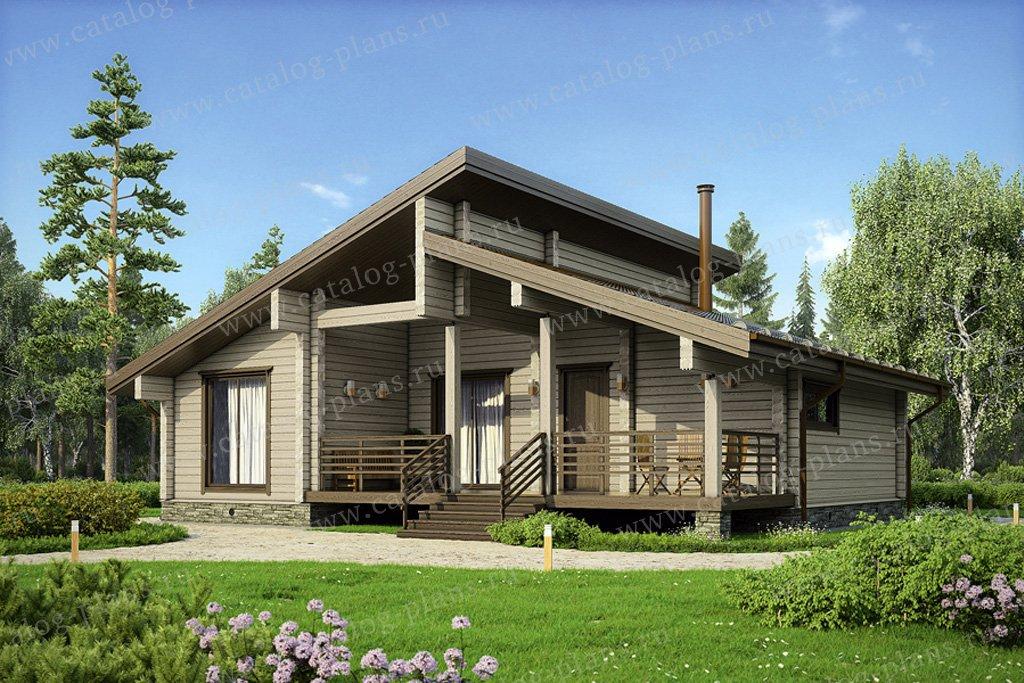 Проект жилой дом #13-09 материал - дерево, стиль скандинавский