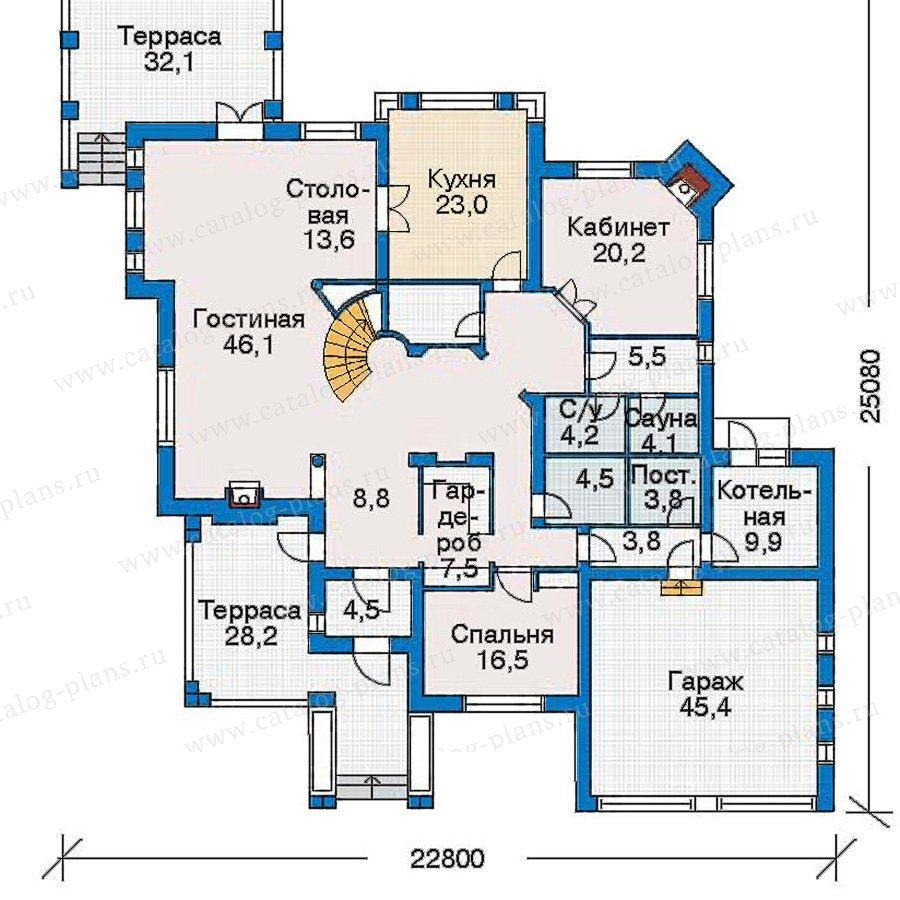 План 1-этажа проекта 30-59