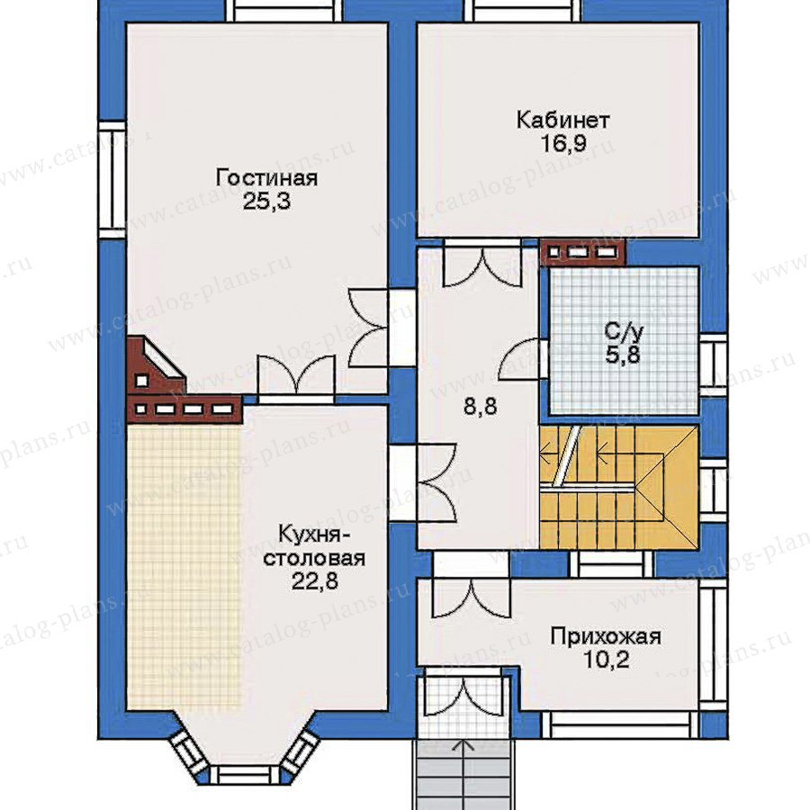 План 2-этажа проекта 31-90