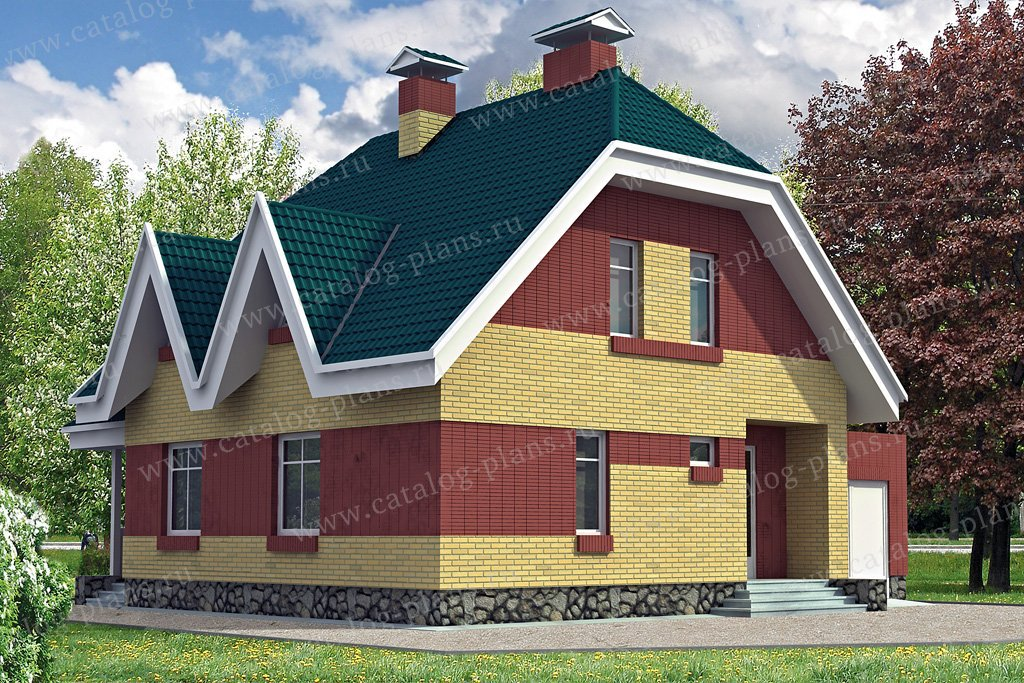 Проект жилой дом #31-87 материал - кирпич, стиль европейский