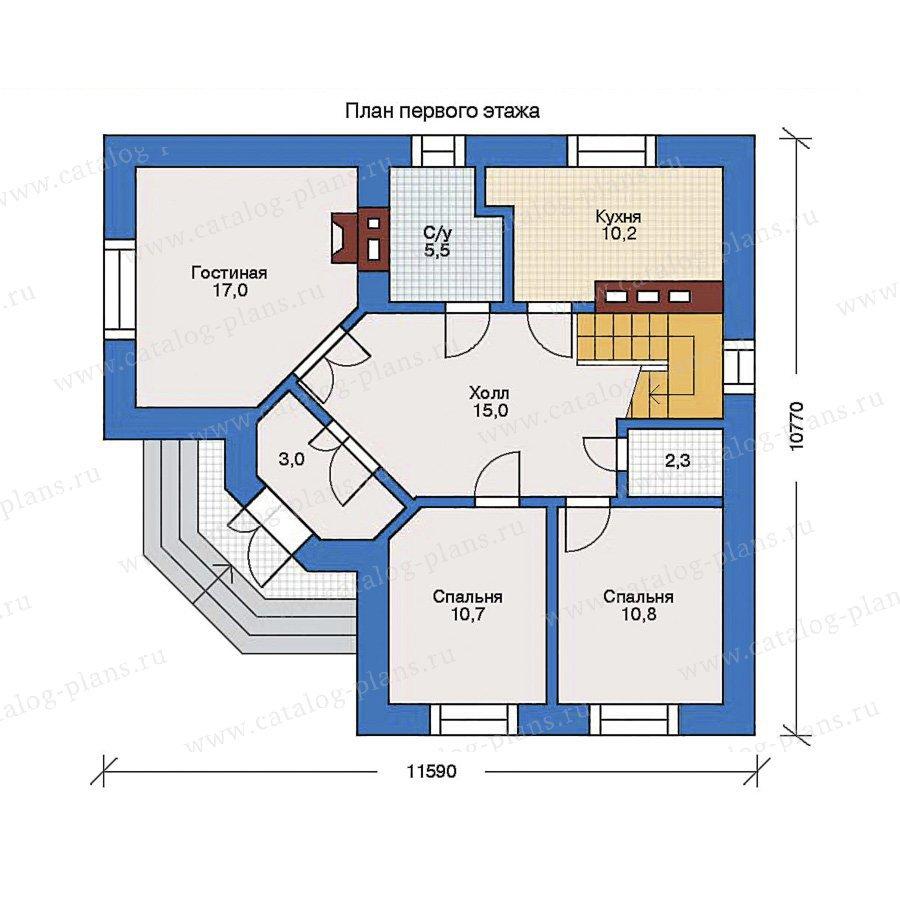 План 1-этажа проекта 31-82