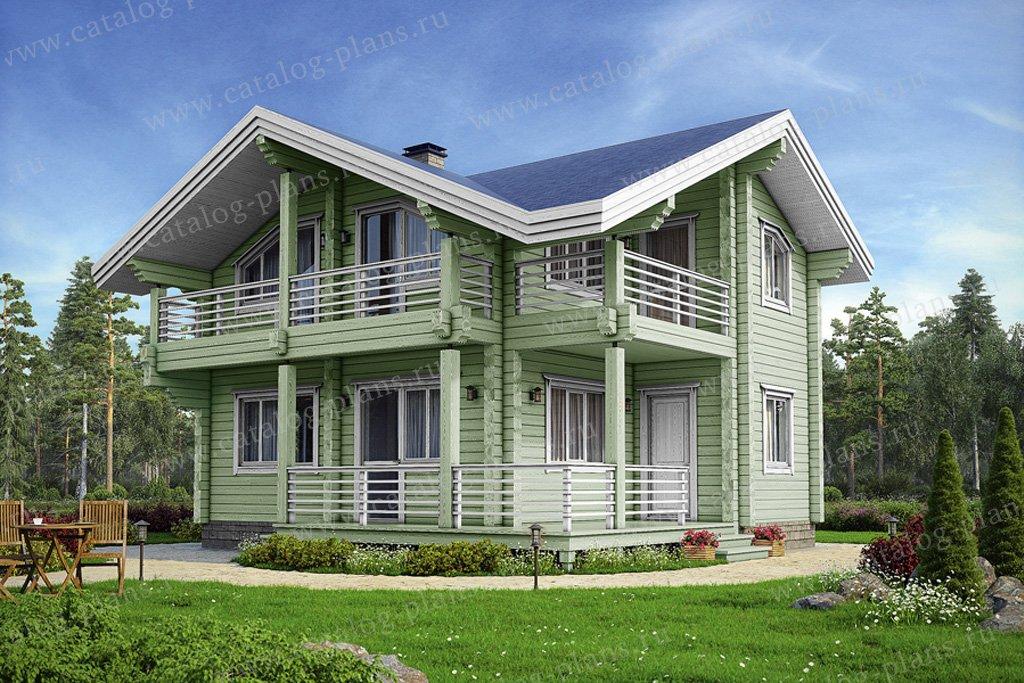 Проект жилой дом #13-10 материал - дерево, стиль современный