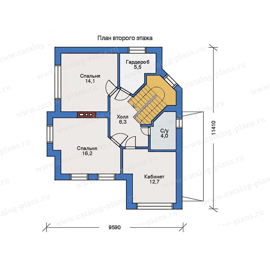План 2-этажа проекта 31-64