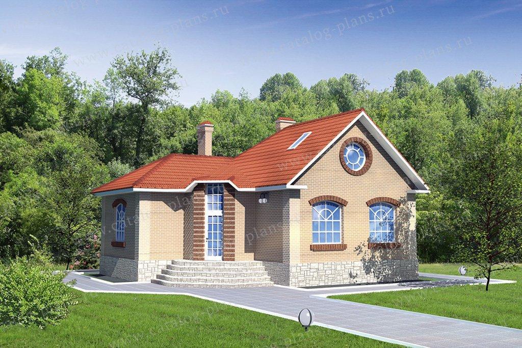 Проект жилой дом #31-82 материал - кирпич, стиль европейский