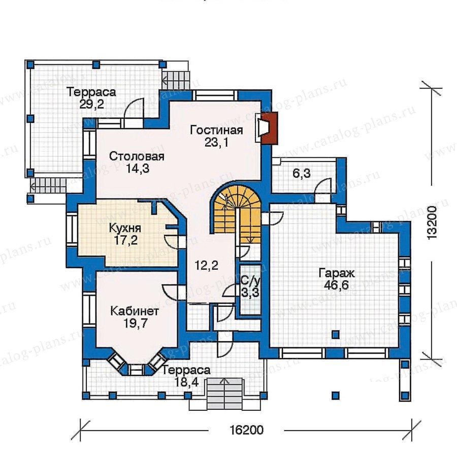 План 2-этажа проекта 30-56