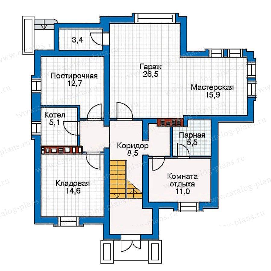 План 1-этажа проекта 30-35