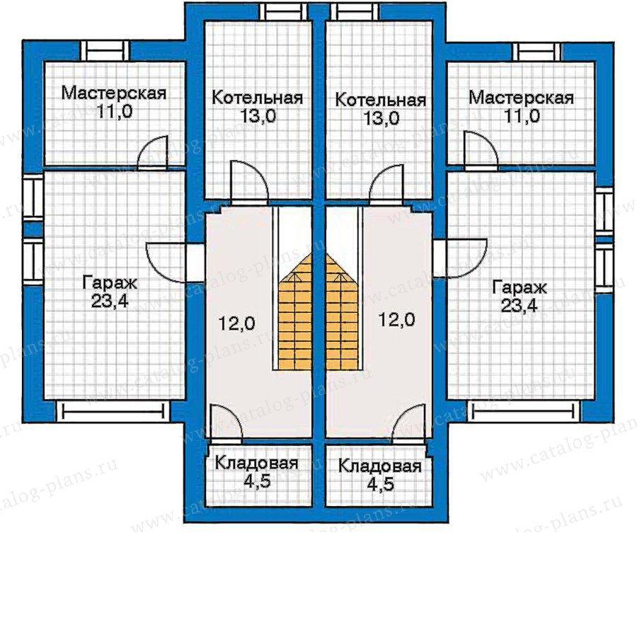План 1-этажа проекта 30-44