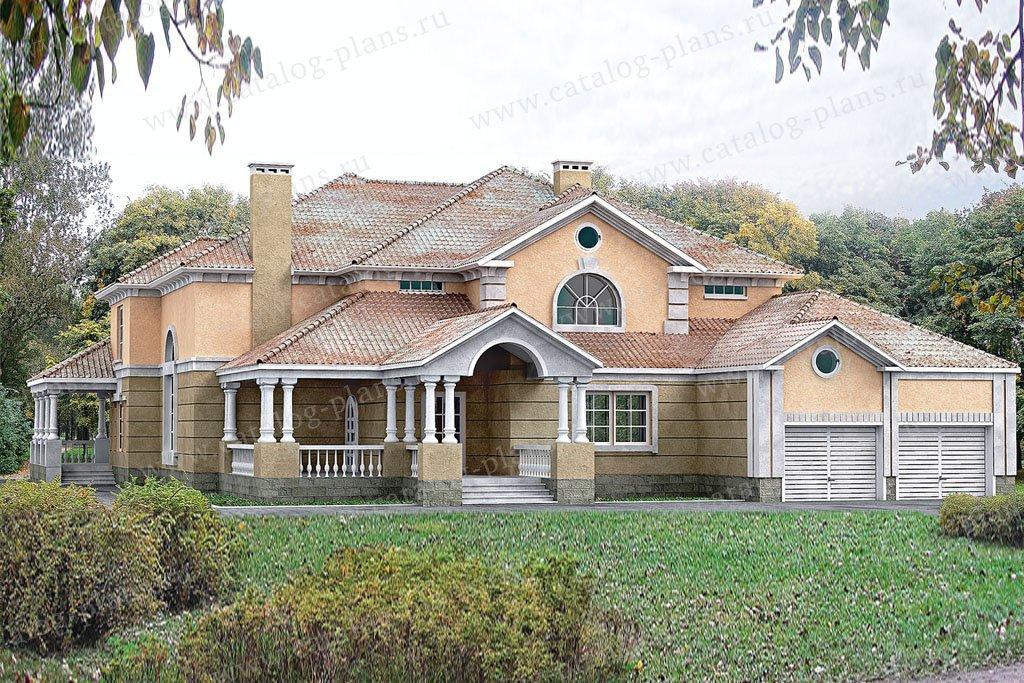 Проект жилой дом #30-59 материал - кирпич, стиль классический