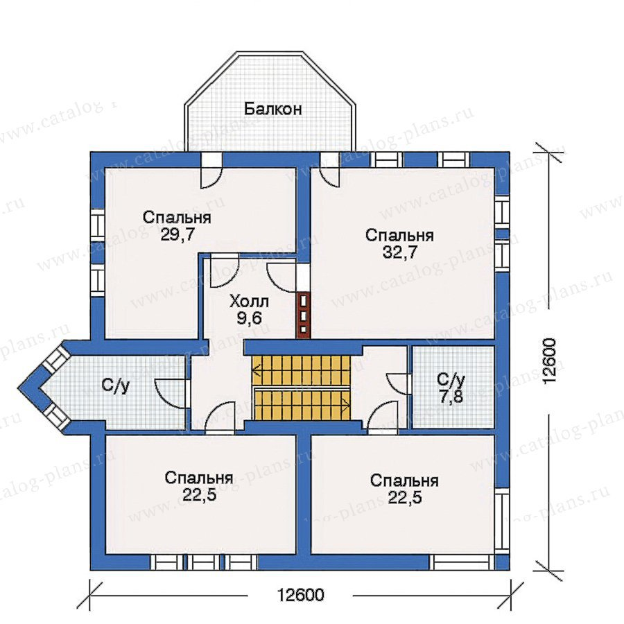 План 3-этажа проекта 31-97