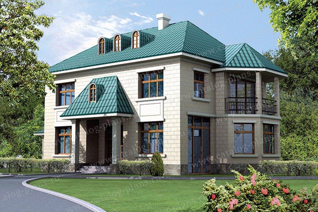 Проект жилой дом #31-69 материал - кирпич, стиль европейский