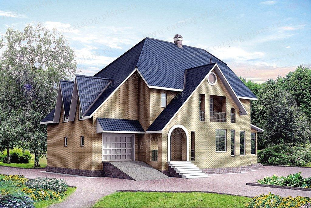 Проект жилой дом #30-48 материал - кирпич, стиль европейский