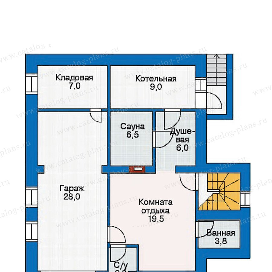 План 1-этажа проекта 30-46