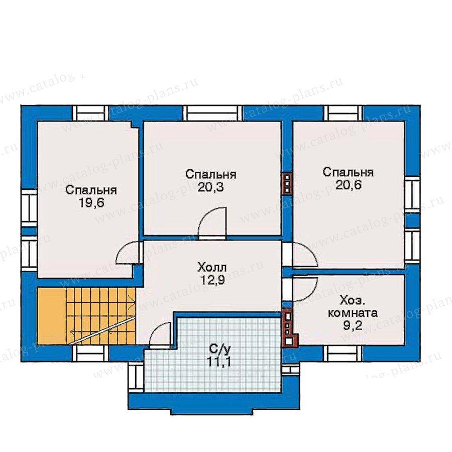 План 3-этажа проекта 30-50