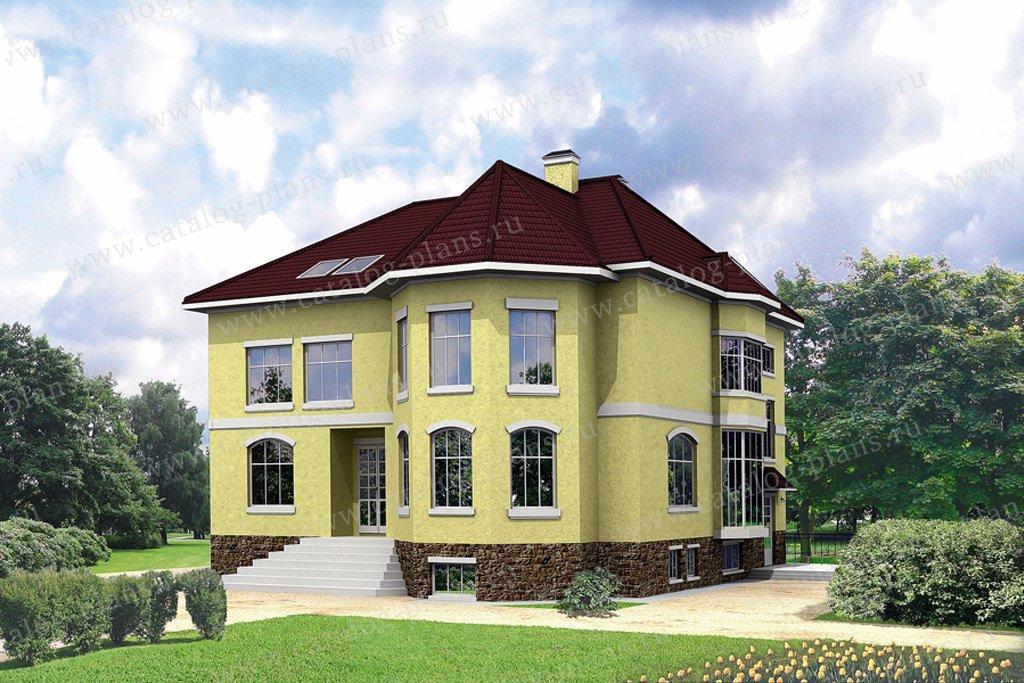 Проект жилой дом #31-89 материал - кирпич, стиль европейский