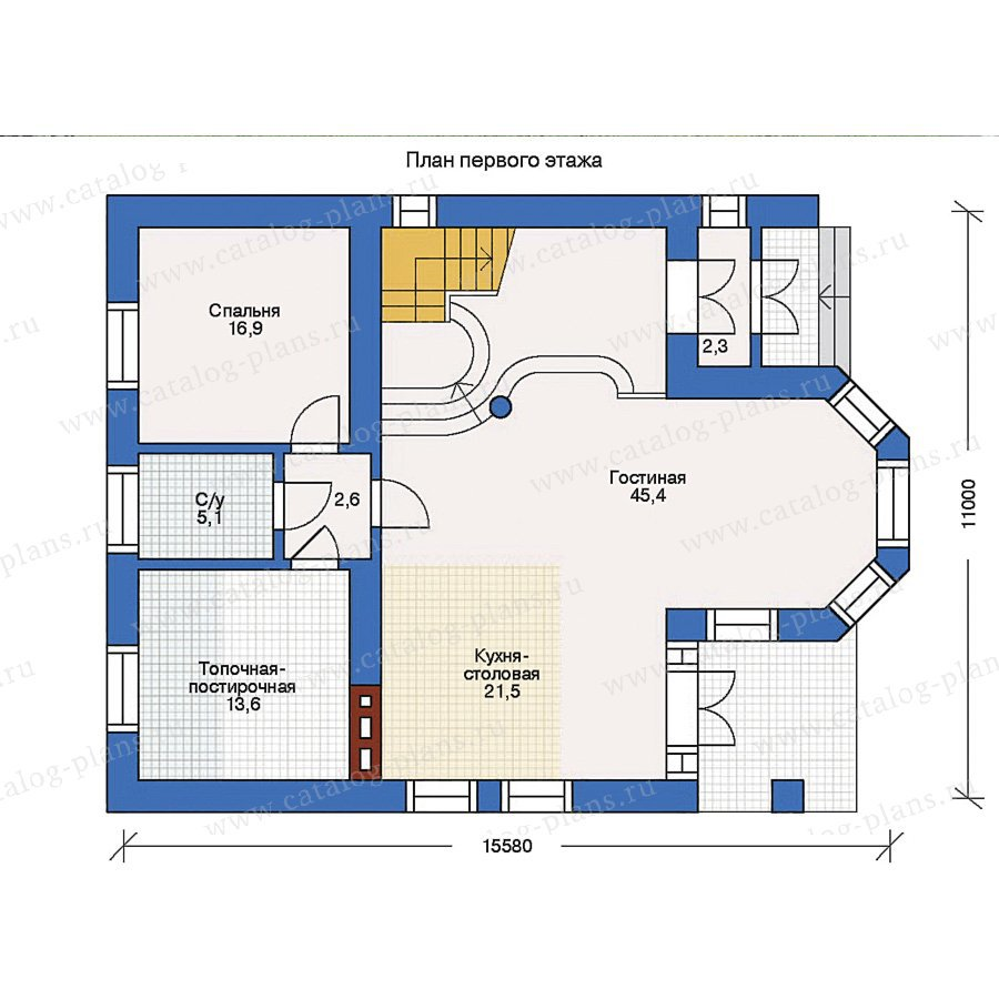 План 1-этажа проекта 31-67