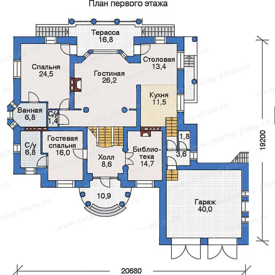 План 2-этажа проекта 31-25