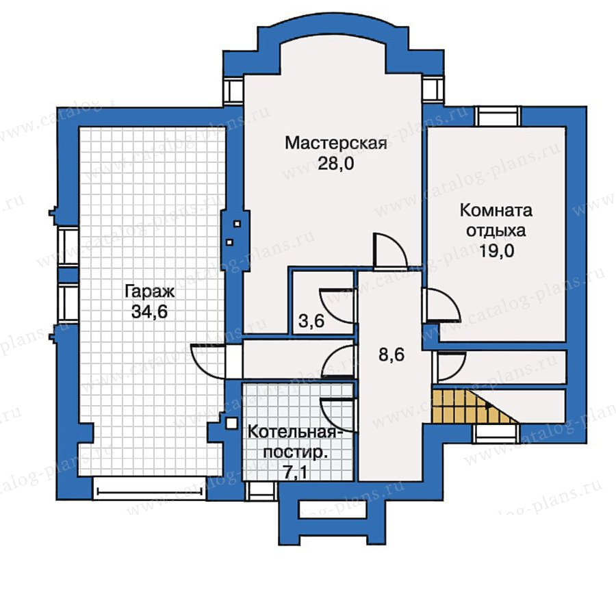 План 1-этажа проекта 30-43