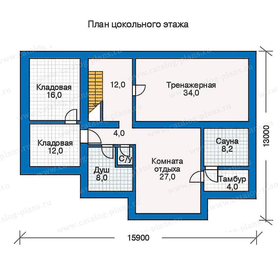 План 1-этажа проекта 30-48