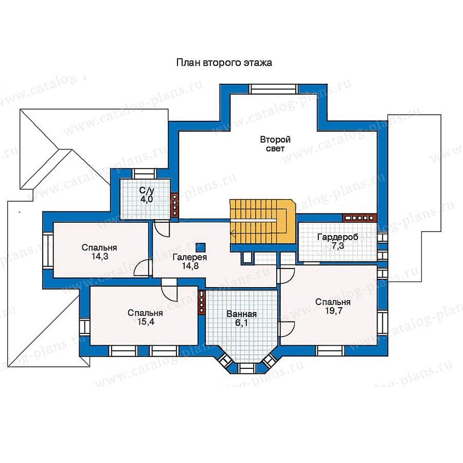 План 2-этажа проекта 30-64
