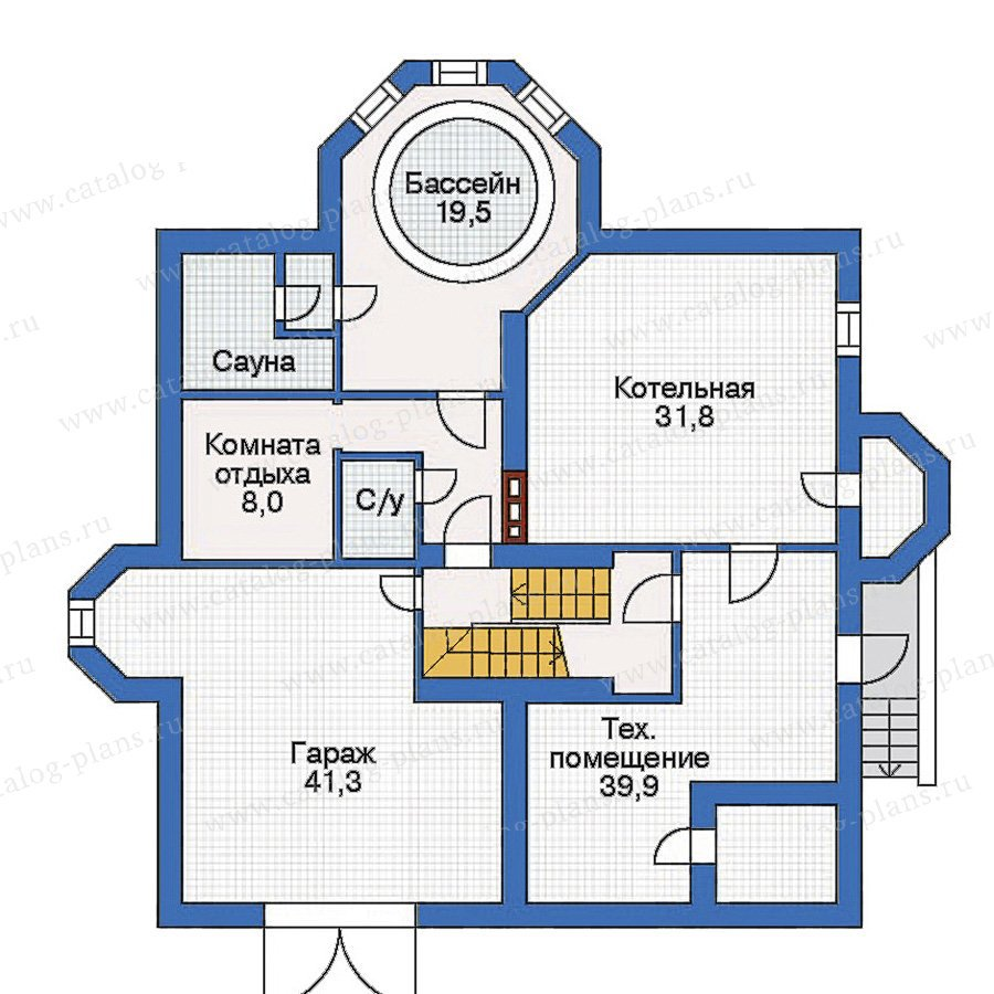 План 1-этажа проекта 31-97