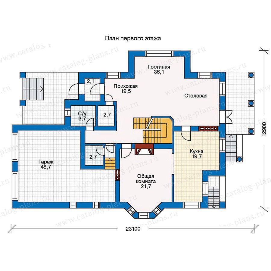 План 1-этажа проекта 30-64
