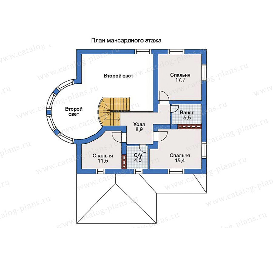 План 2-этажа проекта 31-06