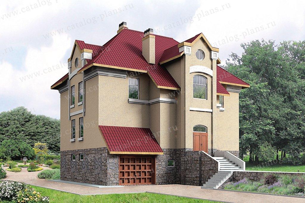 Проект жилой дом #30-43 материал - кирпич, стиль европейский
