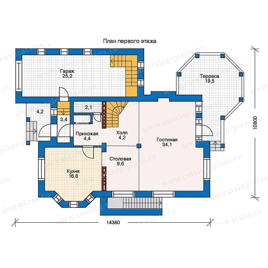 План 1-этажа проекта 30-61
