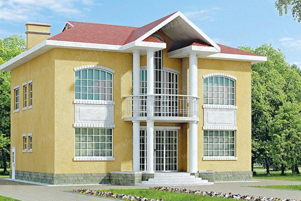 Проект жилой дом #31-80 материал - кирпич, стиль американский