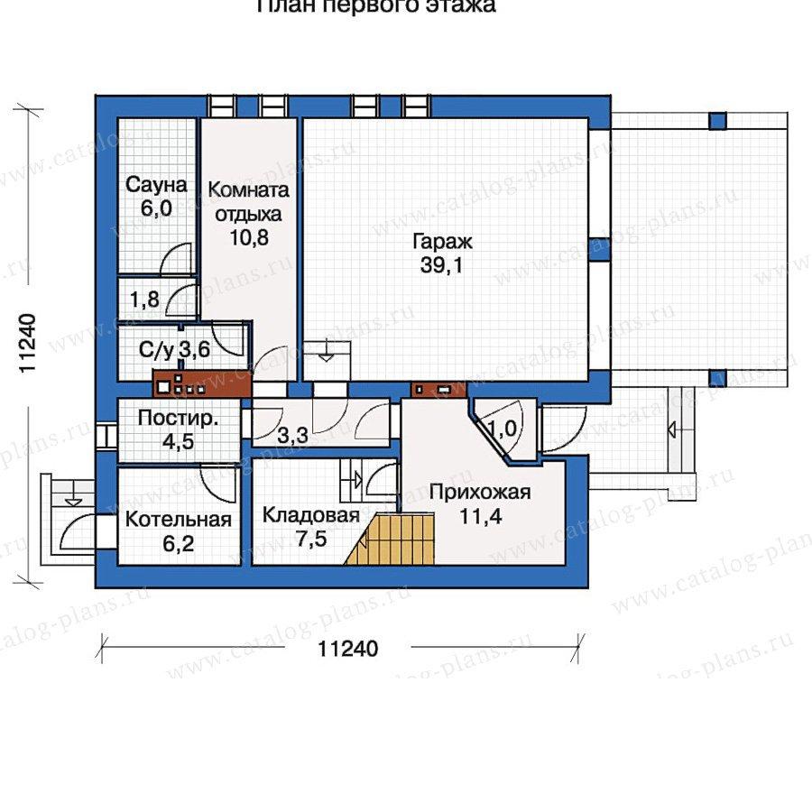 План 1-этажа проекта 30-55