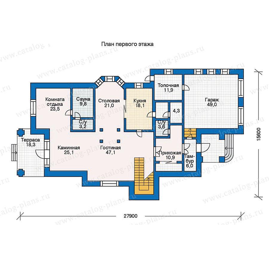 План 1-этажа проекта 30-57