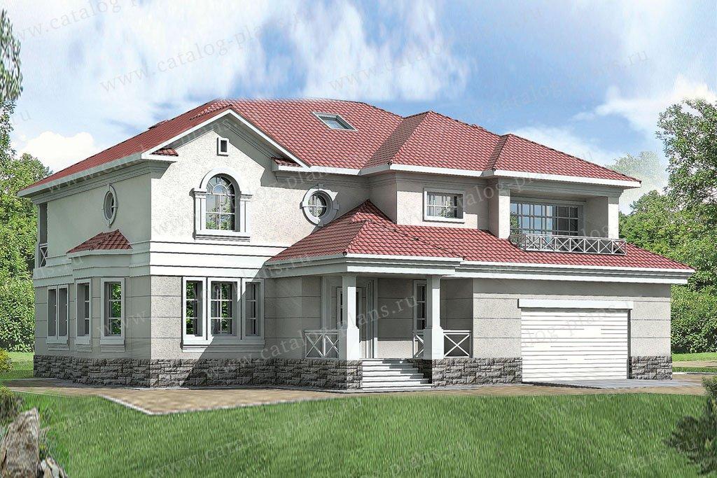 Проект жилой дом #30-60 материал - кирпич, стиль классический