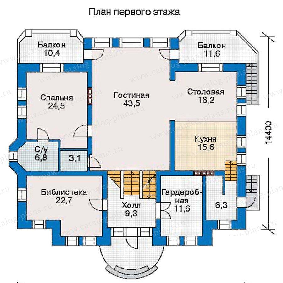 План 2-этажа проекта 30-88