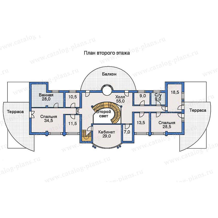 План 2-этажа проекта 31-27