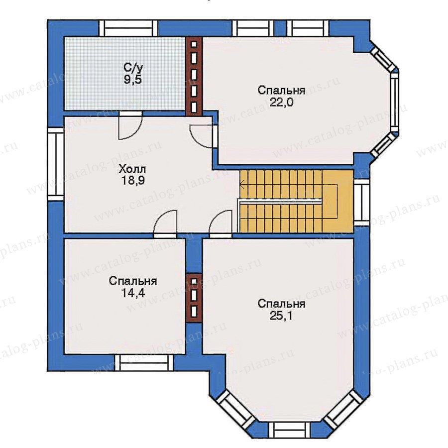 План 3-этажа проекта 31-83