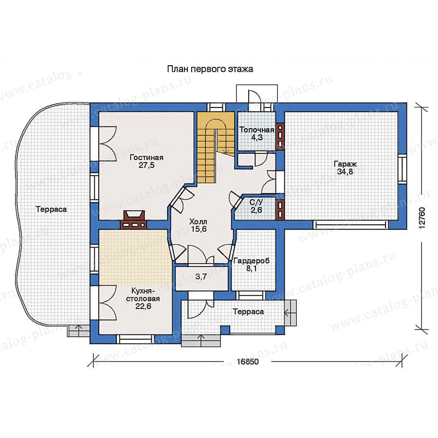 План 1-этажа проекта 31-66