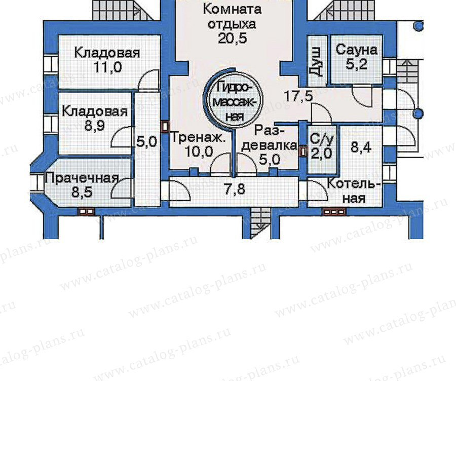 План 1-этажа проекта 31-25